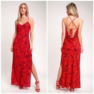 Lulu's • Sunset the Mood Floral Maxi Dress